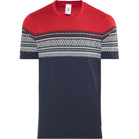 Aclima DesignWool Marius - T-shirt manches courtes Homme - rouge/bleu